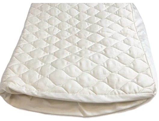 Organic Crib Mattress Pad [Deep Fitted Bed Skirt] [GOTS Certified Organic Cotton] - Organic Textiles