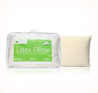 All-Natural Latex Pillow with Cotton Cover - Organic Textiles