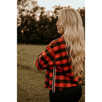 Behind The Guitar Red Plaid Button Up Top - Shabby 2 Chic Boutiques