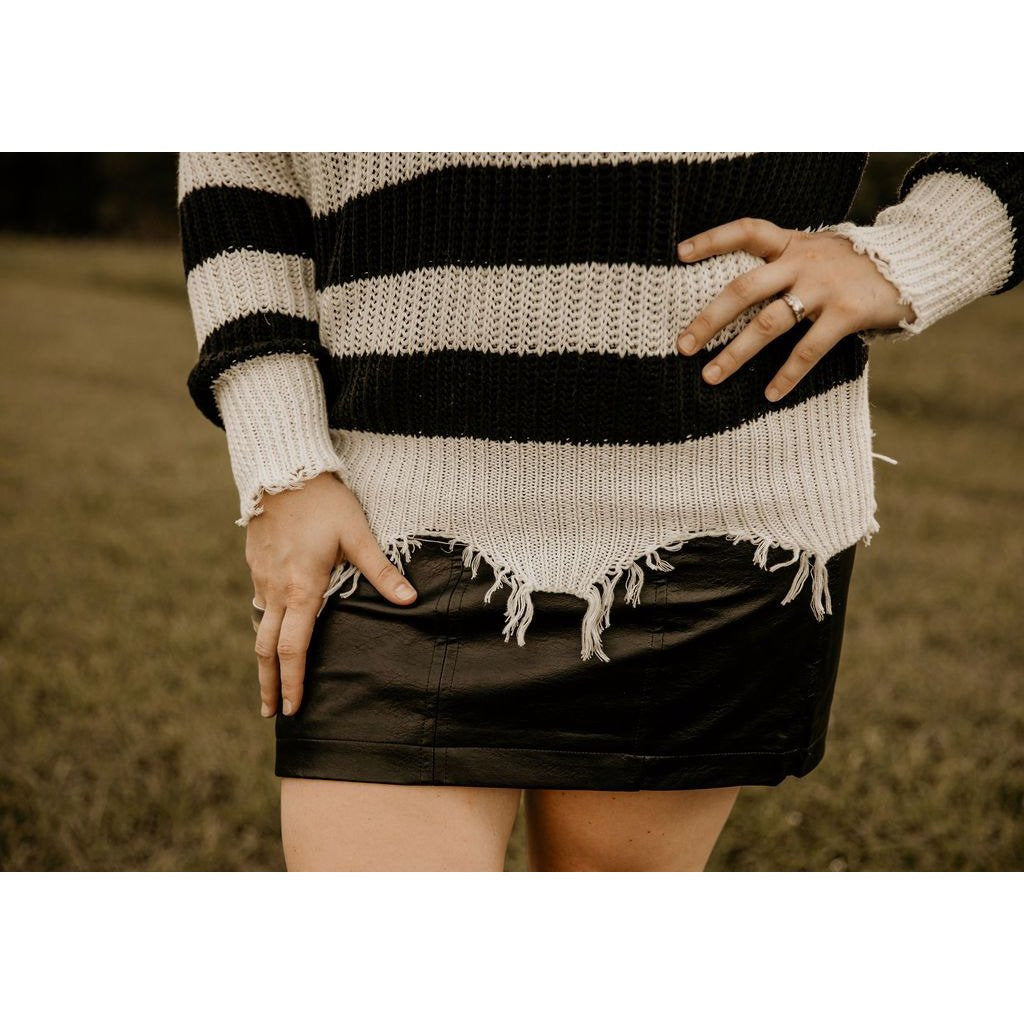 Can't Deal Black Mini Skirt - Shabby 2 Chic Boutiques