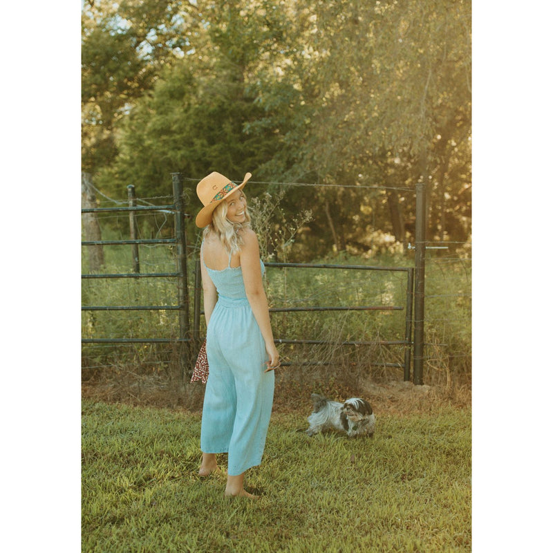 Moon River Smocked Jumpsuit