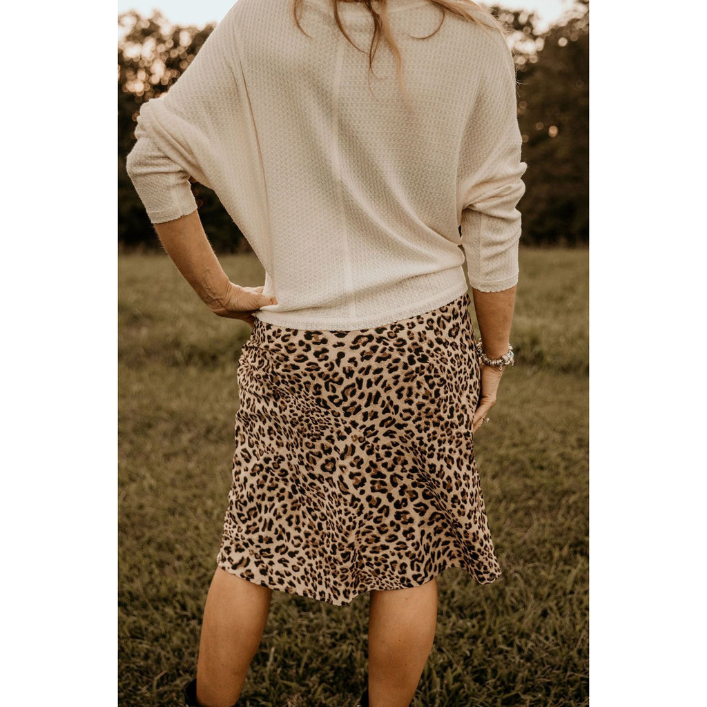 Engaging Encounter Leopard Print Midi Skirt - Shabby 2 Chic Boutiques