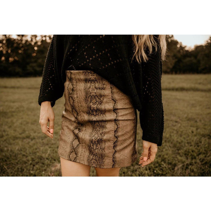 Can't Deal  Snake Print Mini Skirt - Shabby 2 Chic Boutiques