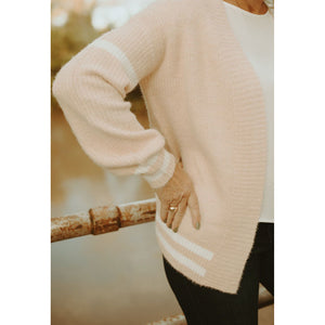 Harvest Mornings Ultra Soft Cardigan in Light Pink