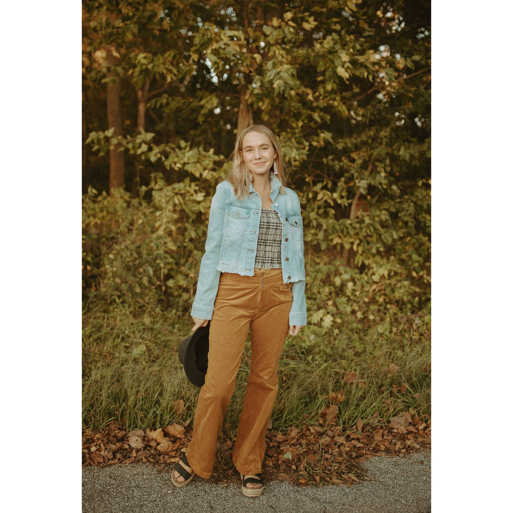 The Hallie High Waist Corduroy Bootcut Pants