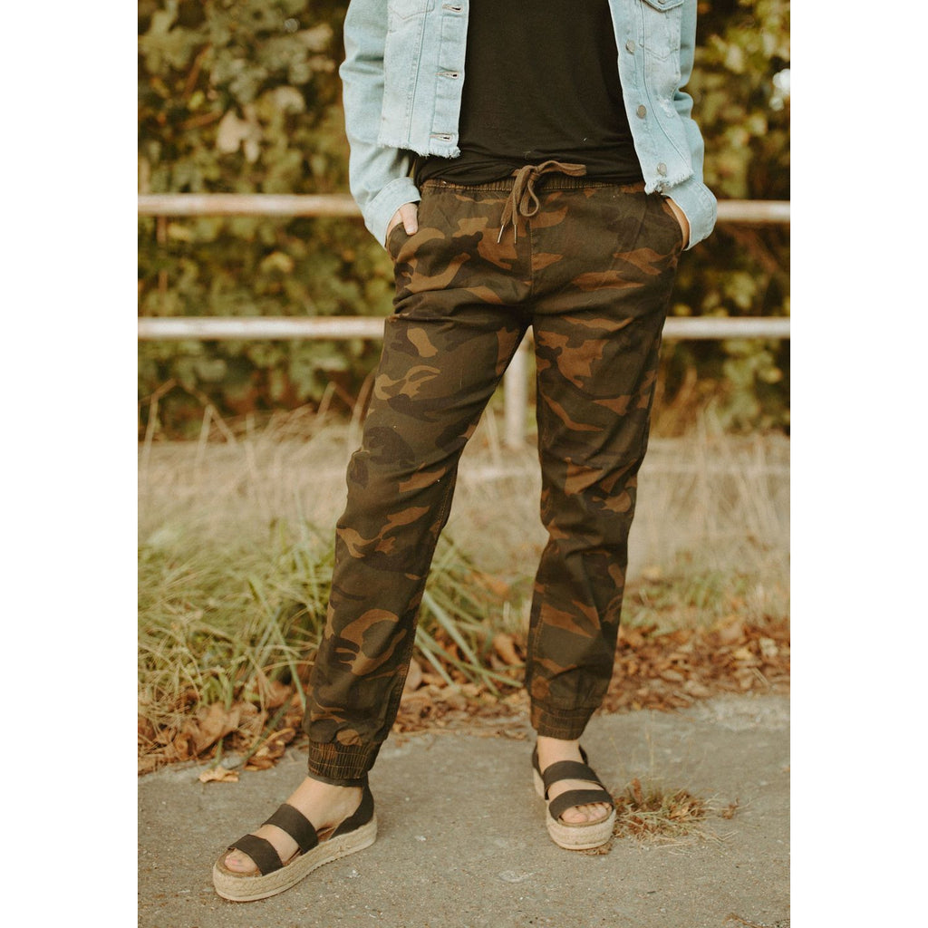 The Nicola Camo Joggers
