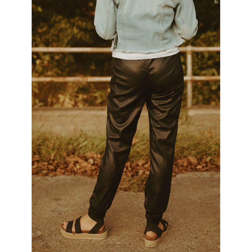 The Tucker Faux Leather Joggers