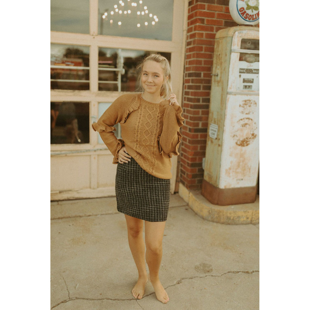 Name Dropper Tweed Skirt