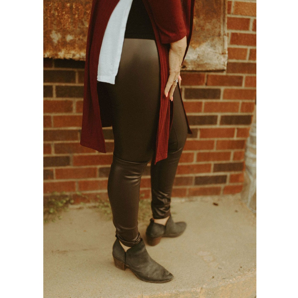 Showstopper Faux Leather High Waist Leggings