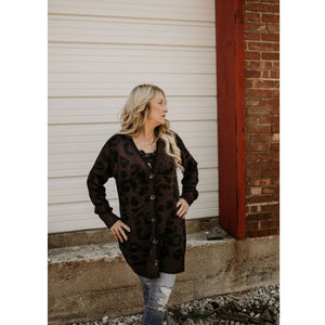 On the Wild Side Plum Cardigan - Shabby 2 Chic Boutiques