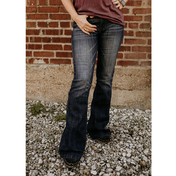 KanCan Diggin These Faded Flare Jeans