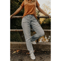 KanCan After A While Light Wash Distressed Mom Jeans - Shabby 2 Chic Boutiques