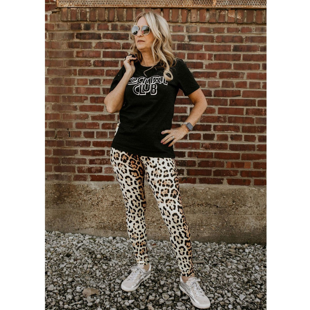 Can't Catch Me Leopard  Print Leggings - Shabby 2 Chic Boutiques