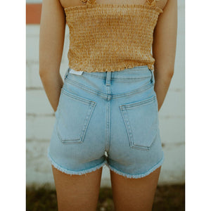 The Bonnie High Waist Frayed Shorts
