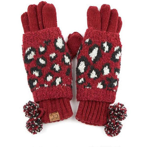 CC Leopard Touch Screen Compatible Gloves - Shabby 2 Chic Boutiques