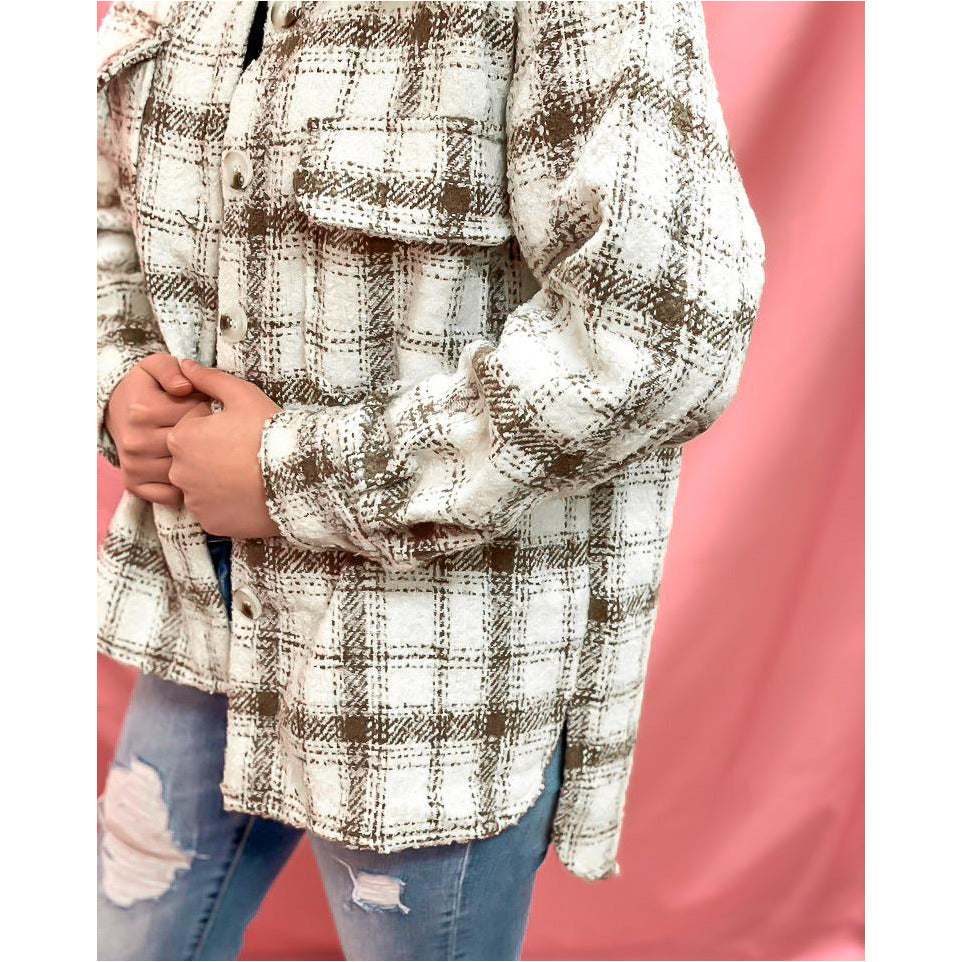 Cozy Essence Plaid Jacket