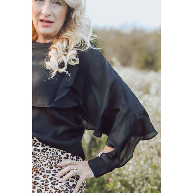 Madelyn Flutter Organza Top