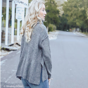 Leaf Trail Sweater In Grey