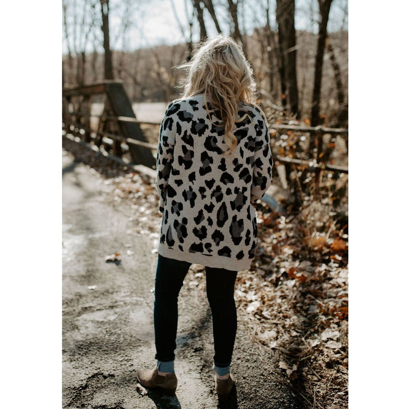 Her Fiesty Side Leopard Print Cardigan - Shabby 2 Chic Boutiques