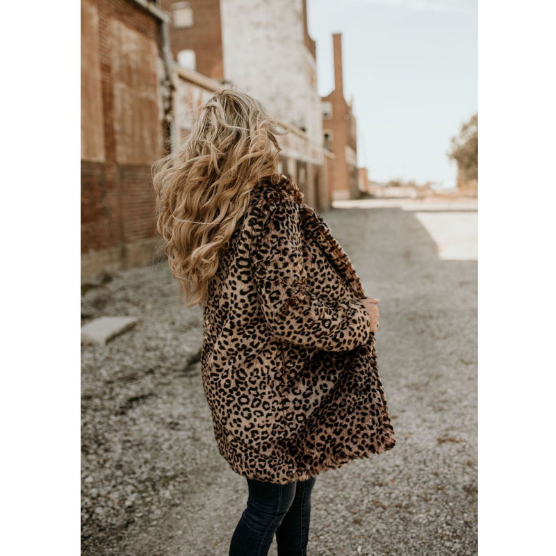Teddy Lapeled Faux Fur Jacket - Shabby 2 Chic Boutiques
