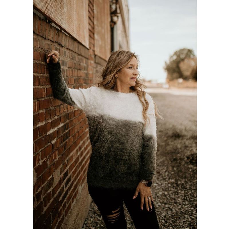 Lazy Days Dip Dye Sweater - Shabby 2 Chic Boutiques
