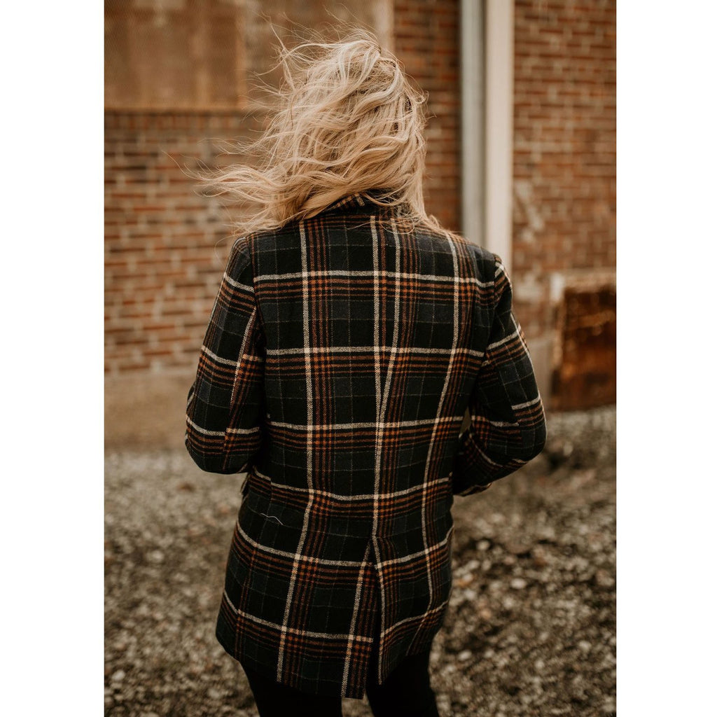 How to Be Confident Plaid Blazer - Shabby 2 Chic Boutiques