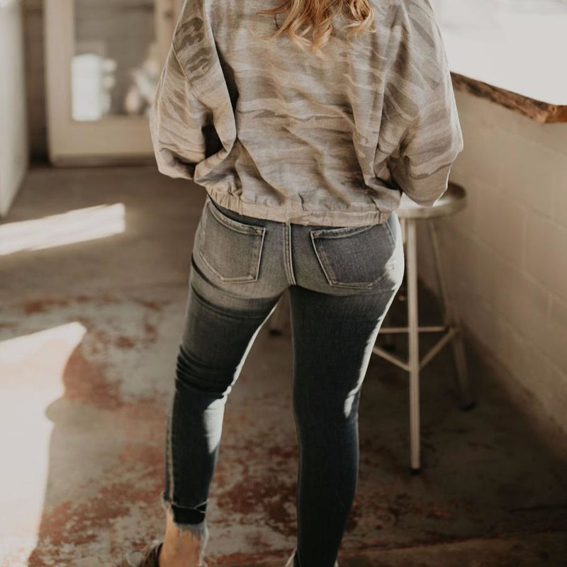 Take a Risk High Waist Distressed Denim - Shabby 2 Chic Boutiques