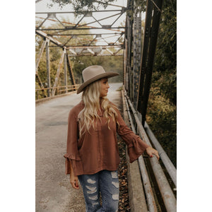 Ready For This Taupe Blouse - Shabby 2 Chic Boutiques