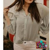 Shirring Sleeve Top - Shabby 2 Chic Boutiques
