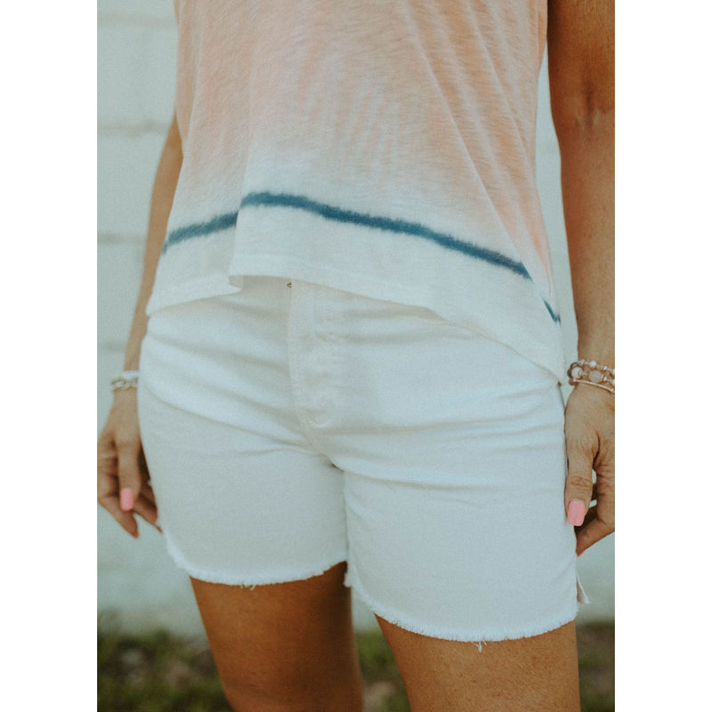 The Julian High Rise Optic White Shorts
