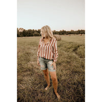 Our Own Rules Striped Button Up Top - Shabby 2 Chic Boutiques