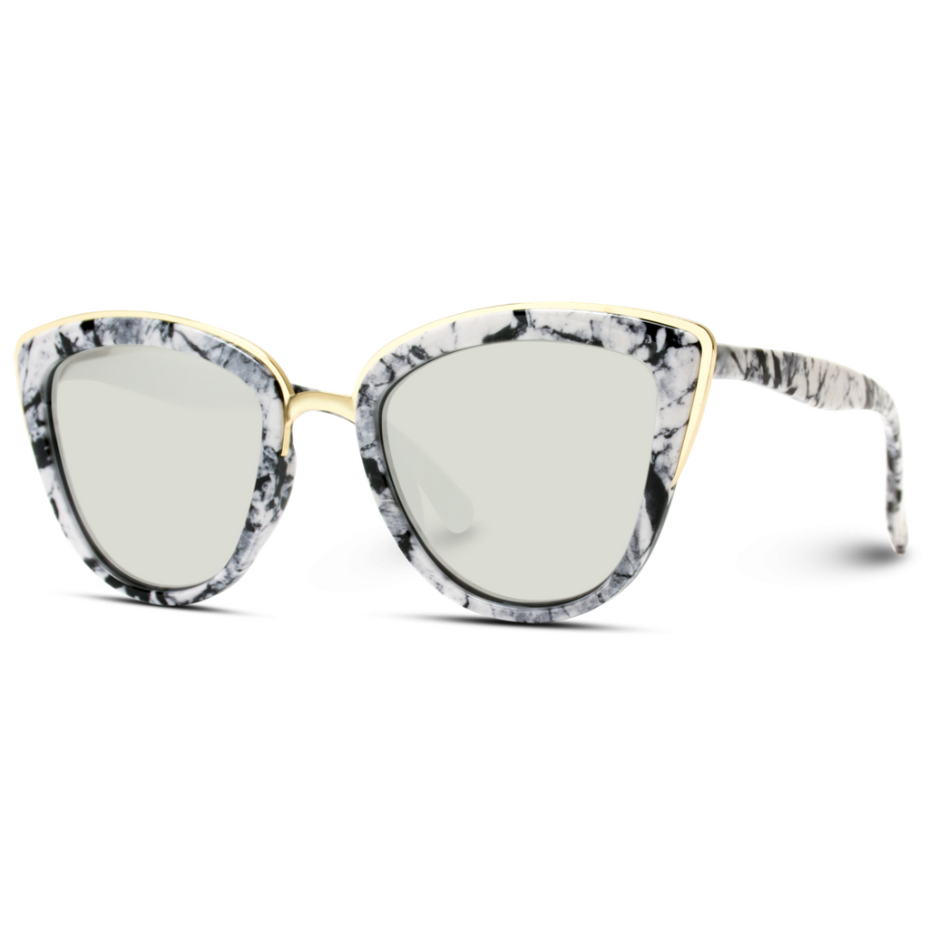 Marble Frame Cat Eye Sunglasses