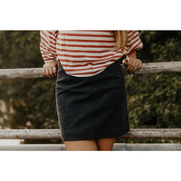 Can't Deal Faded Black Mini Skirt - Shabby 2 Chic Boutiques