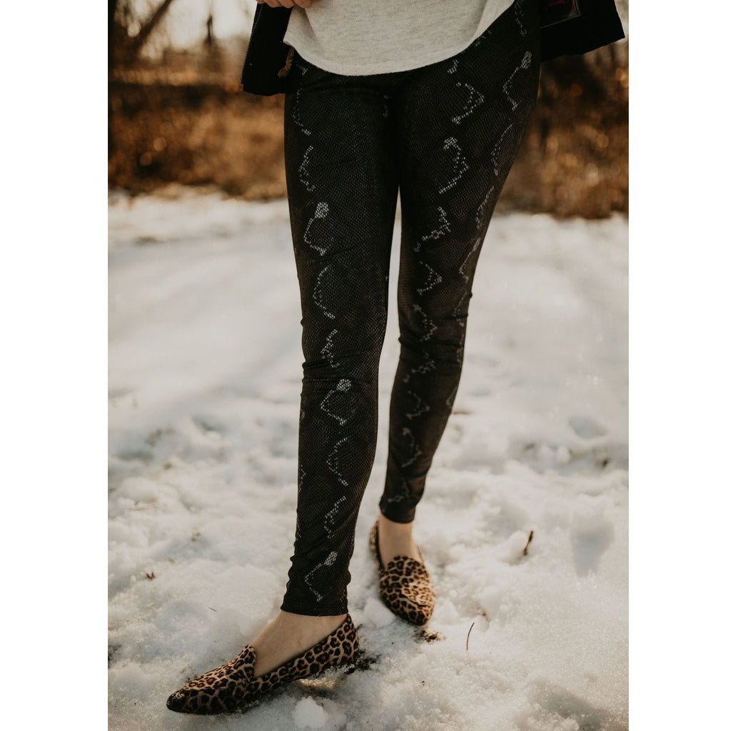 Can't Catch Me Snake Print Leggings - Shabby 2 Chic Boutiques