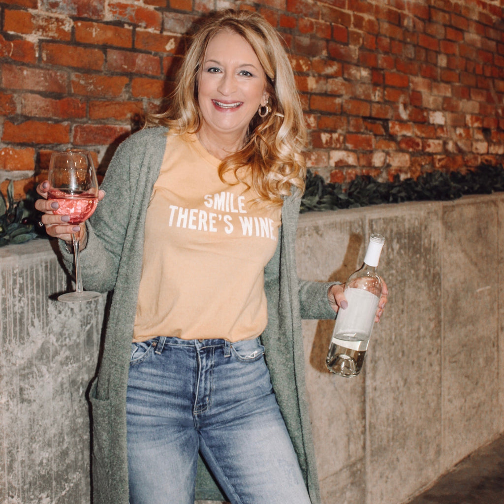 Smile There Is Wine Tee