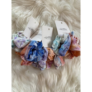 Set of 3 Tied Dyed  Scrunchie Set