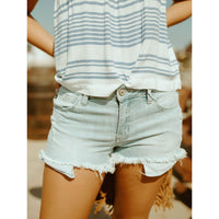The Marina Midrise Distressed Shorts