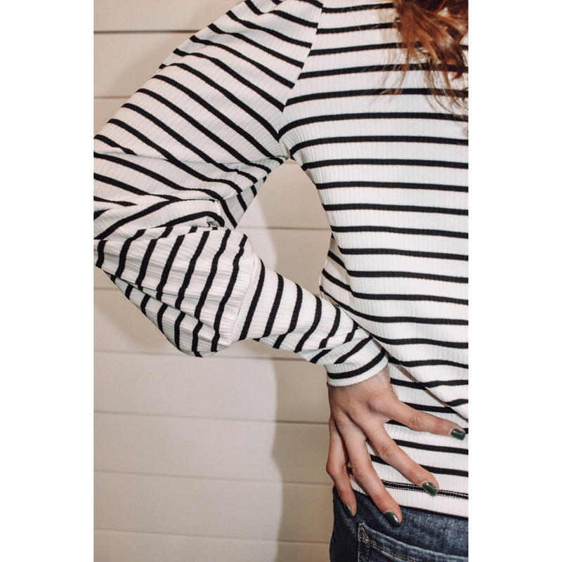 Clemente Striped Puff Sleeve