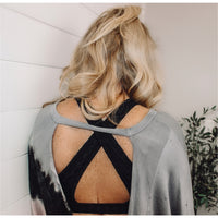 Sync Up Open Back Sweatshirt