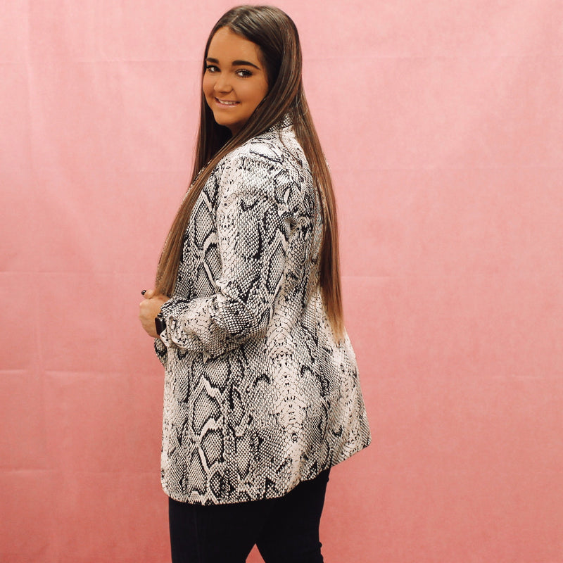 Major Headlines Snake Print Blazer