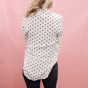 Penthouse Happy Hour Polka Dot Blouse