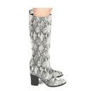 Stone Black Knee High Boot - Shabby 2 Chic Boutiques