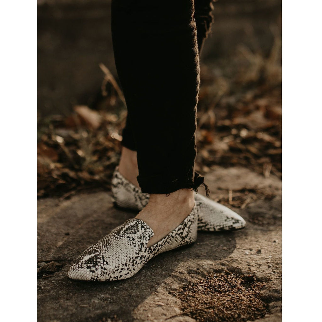Stone Black Snake Loafer - Shabby 2 Chic Boutiques