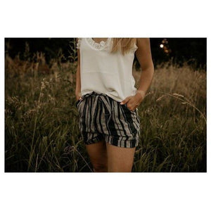 Chic Solution Navy Striped Shorts - Shabby 2 Chic Boutiques