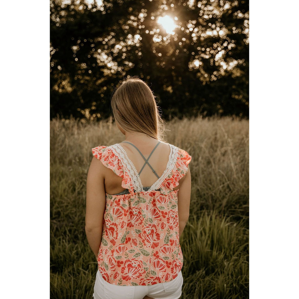 Flutter Along Print Top - Shabby 2 Chic Boutiques