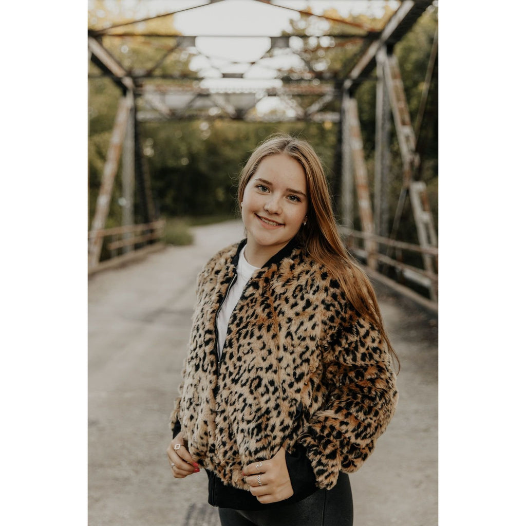 Reason To Slay Leopard Print Bomber Jacket - Shabby 2 Chic Boutiques
