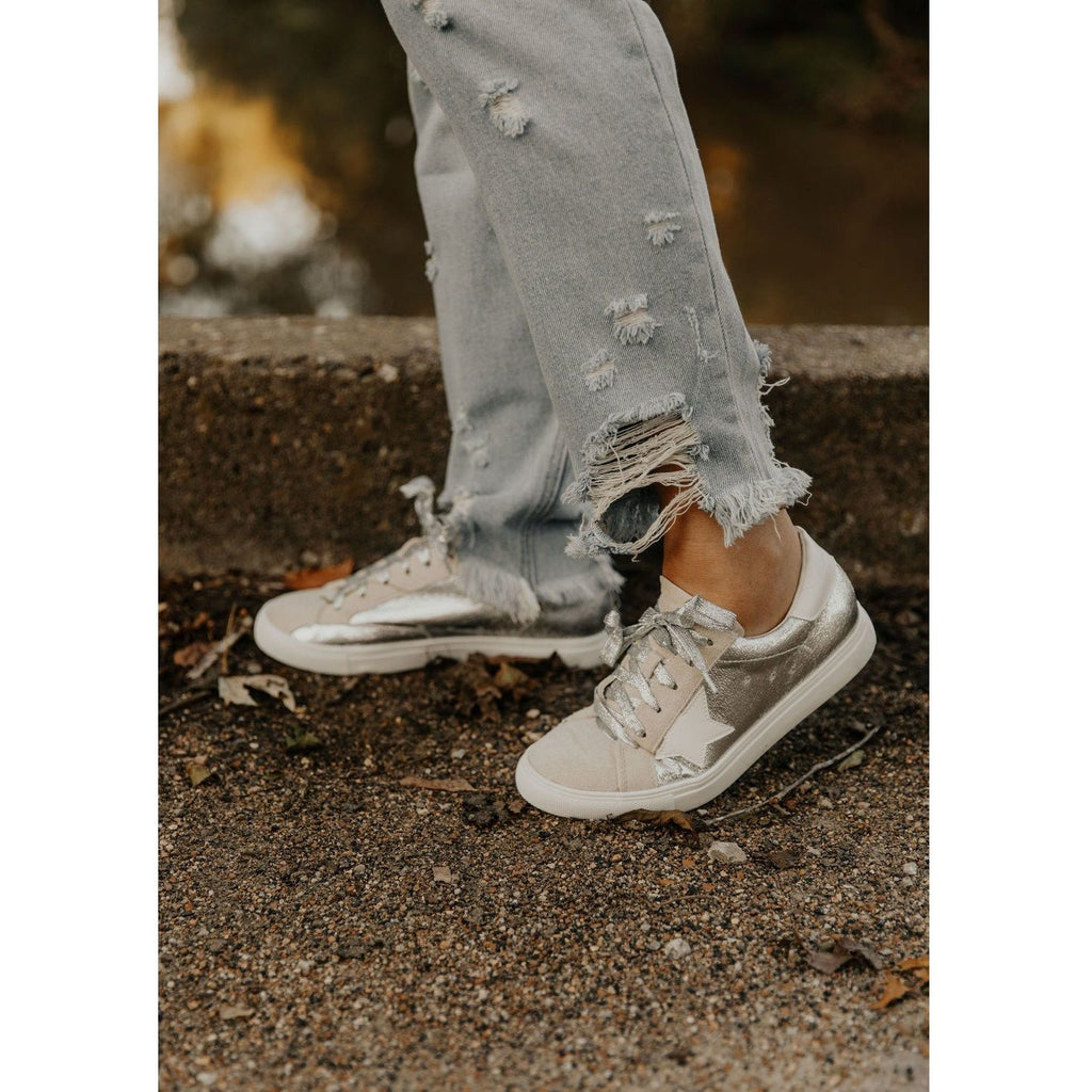 Getting Better Silver Sneakers - Shabby 2 Chic Boutiques