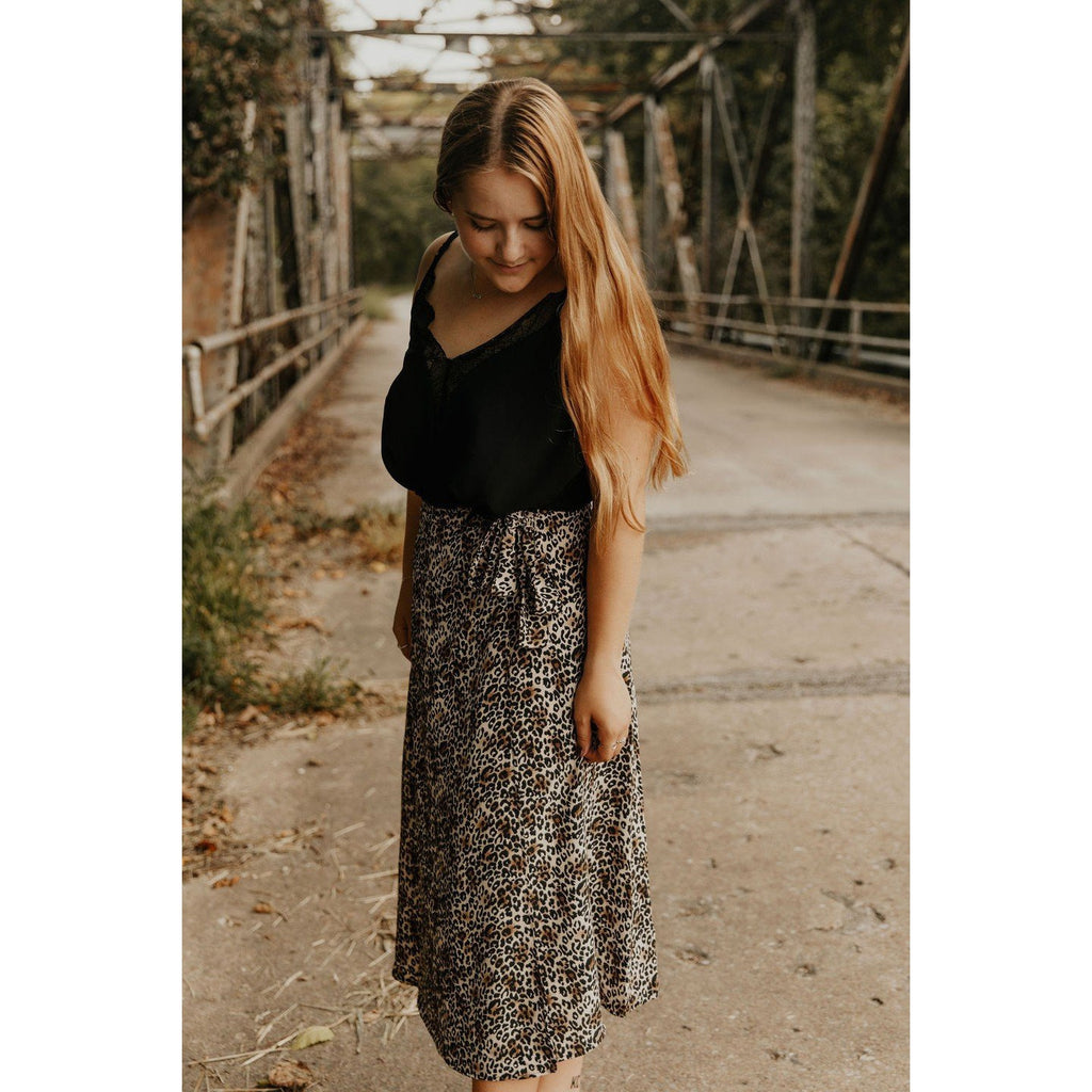 Have A Chance Leopard Wrap Skirt - Shabby 2 Chic Boutiques