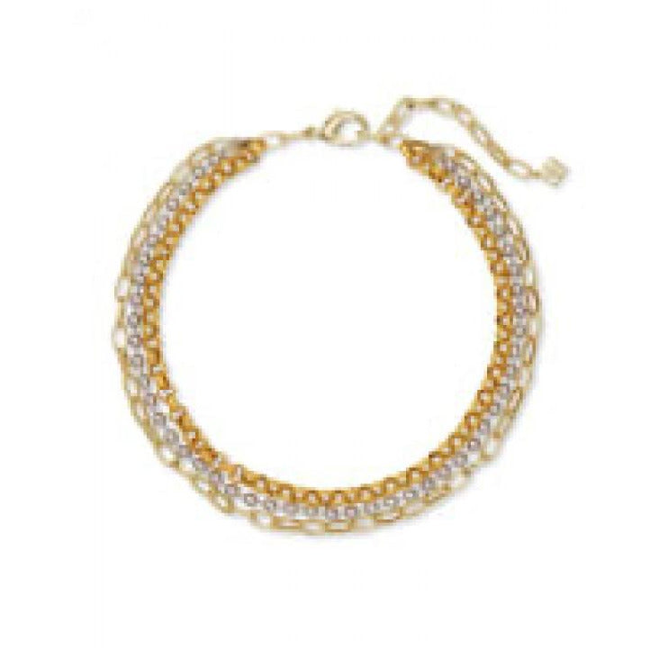 Brylee Multi Strand Mixed Metal Necklace