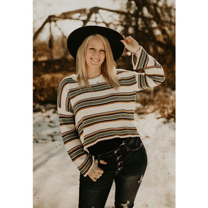 Just Your Type Striped Sweater - Shabby 2 Chic Boutiques